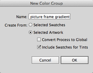 The Illustrator New Color Group dialog